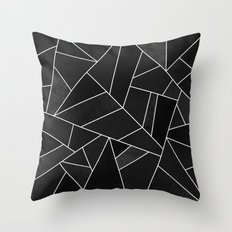 Black Stone Throw Pillow