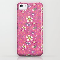 iPhone Cases featuring Tiara Flower Pink by Heather Leane