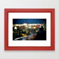 New York City Blinding L… Framed Art Print