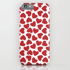 Love Heart Pattern 2 - Red Slim Case iPhone 6s