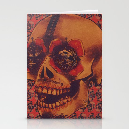 Skulled Stationery Card