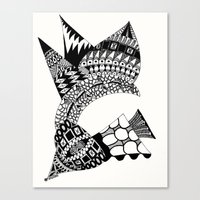 Sea Shell Creature Canvas Print