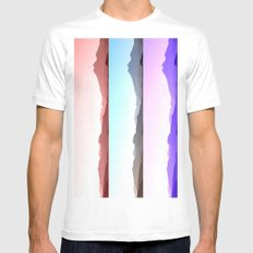 Skyline SMALL White Mens Fitted Tee