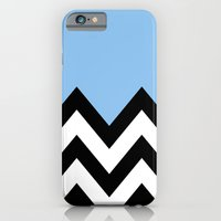 BLUE COLORBLOCK CHEVRON iPhone 6 Slim Case