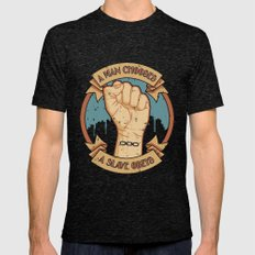 Bioshock a man, a slave Mens Fitted Tee Tri-Black SMALL