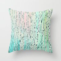 don't be a birch Throw Pillow