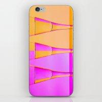 Three Coloured / Colored Wine Glasses  iPhone & iPod Skin
