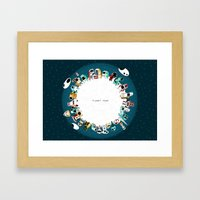 Planet Four Framed Art Print