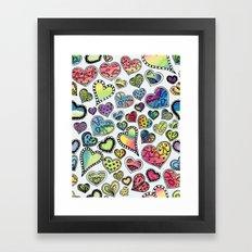 Hippie Hearts Framed Art Print