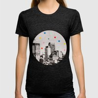 Citydots Womens Fitted Tee Tri-Black SMALL