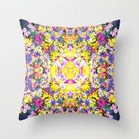 Flower Bomb Throw Pillow