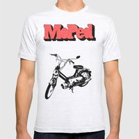 Moped Mens Fitted Tee Ash Grey SMALL