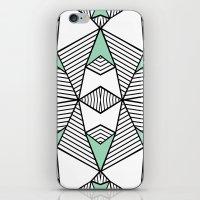 Triangle Tribal Mint iPhone & iPod Skin