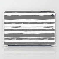 Brush Stroke Stripe Gray iPad Case