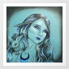 Hija de la Luna Art Print