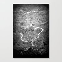 Rivers of India Canvas Print