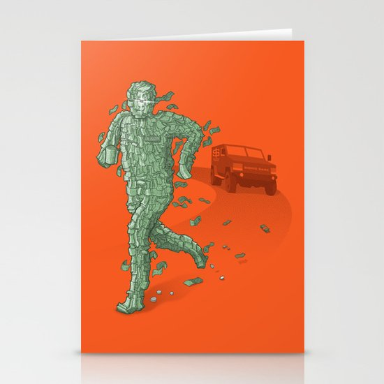 The Six Million Dollar Man Stationery Card