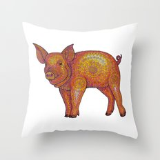 Patterned Piglet Throw Pillow