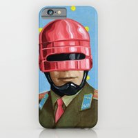 iPhone & iPod Case featuring Pink Robocop by FAMOUS WHEN DEAD