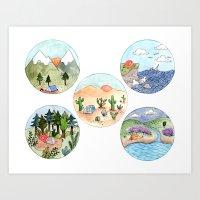 Campsite Selection Art Print
