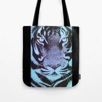 Be a Tiger (Blue) Tote Bag