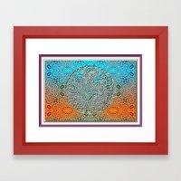 Dragon Garden 2 Framed Art Print