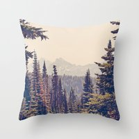 Mountains Through The Tr… Throw Pillow
