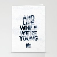 Live While We're Young - 1D Stationery Cards