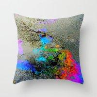 Urban Rainbow Throw Pillow