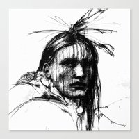 White Belly - Native American Indian Canvas Print