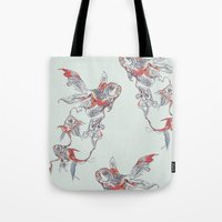 Tote Bag featuring Floating in Deep by Huebucket