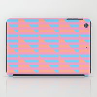 Pink Blue Peach Houndsto… iPad Case