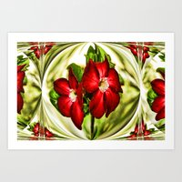 Exotic Flower Unrap Art Print