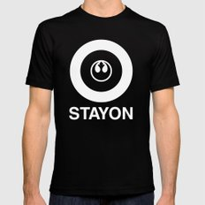 Stay On Target... Mens Fitted Tee Black SMALL