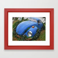 Nature: 1 - Volkswagen Beetle: 0 Framed Art Print