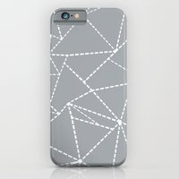 iPhone & iPod Case featuring Abstract Dotted Lines Grey by Project M