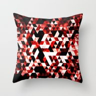 Triangle Geometric Vibra… Throw Pillow