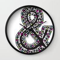 Aztec Ampersand.  Wall Clock