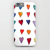 iPhone & iPod Case featuring Multiple HEARTS by SheThinksinColors