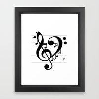 Love Music II Framed Art Print