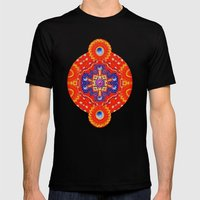 Star Flake Mens Fitted Tee Black SMALL