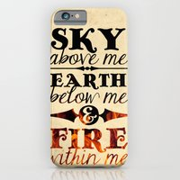 iPhone & iPod Case featuring Sky Earth Fire by rollerpimp