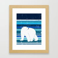 Polar Bear Vertical Framed Art Print