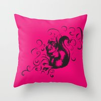 Squirrel Color Throw Pillow