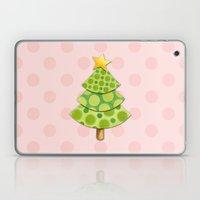 Pink Polka Dots Christmas Laptop & iPad Skin