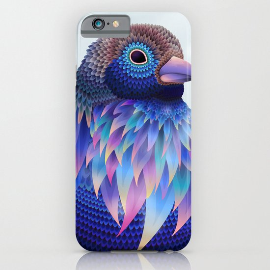 Big blue bird iPhone & iPod Case