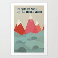 Music Hills Art Print