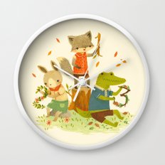 Counting with Barefoot Critters Wall Clock