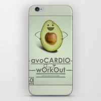 AvoCARDIO Workout iPhone & iPod Skin