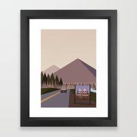Welcome to Twin Peaks Poster Framed Art Print
